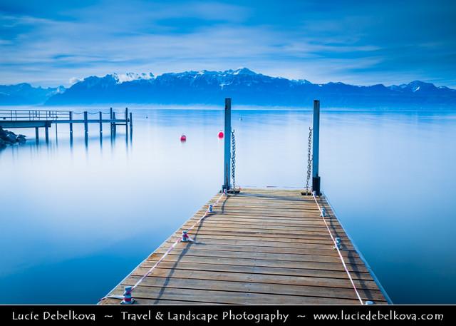 Switzerland - Canton of Vaud - Lausanne on shores of Lake Geneva