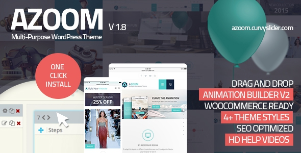 Azoom v1.8 - Multi-Purpose Theme with Animation Builder
