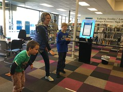 Saturday fun at Central Library Peterborough
