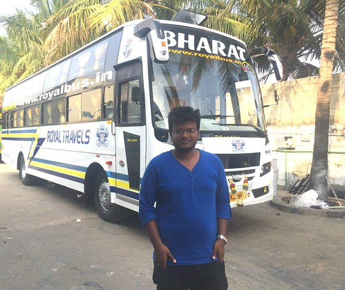 Bharathy posing infront of Bharat (Royal' s)