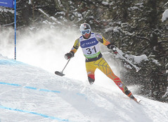Matt Hallat in action in an IPC World Cup super-G in Panorama, B.C.