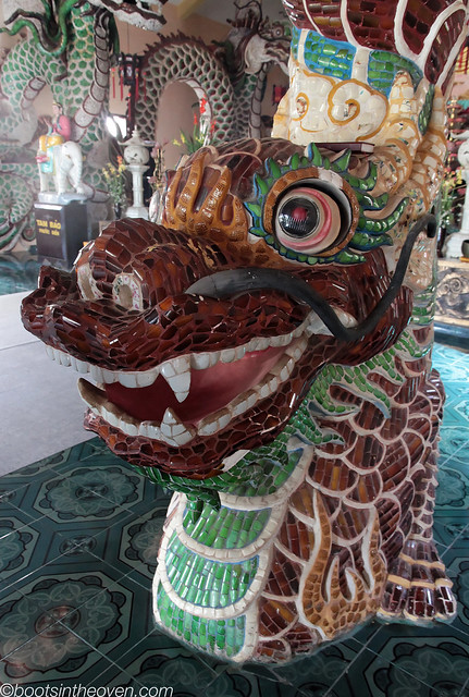 Ceramic Mosaic Dragon with cool eyes