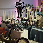 Chandelier Cake Pops Display