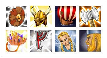 free Viking's Treasure slot game symbols