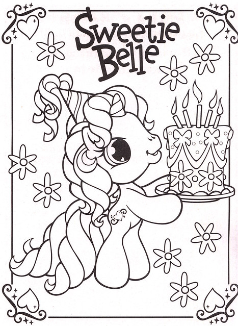 My Little Pony Happy Birthday Coloring Pages : Mobile happy birthday my little pony coloring pages