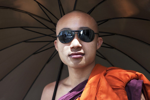 monk fashion, Mandalay, Burma / Myanmar