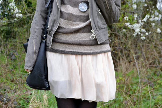 daisybutter - UK Fashion Blog: what i wore, british style, fashion blogger, dress and jumper, ever ours, zara
