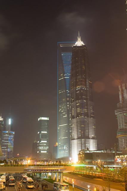 环球金融中心&金茂大厦,上海浦东