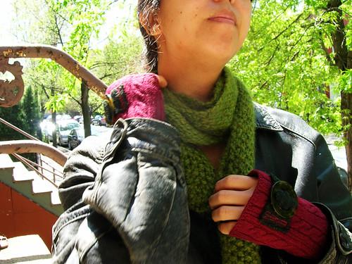 skinny green scarf