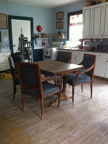 farmhouse kitchen antique trestle table antique arm chairs