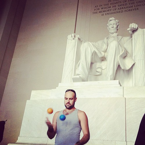Oh yes he did. #dc #lincoln #juggling