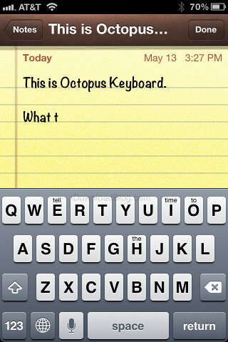 Octopus Keyboard, Nuevo teclado para iOS al más puro estilo de BB10
