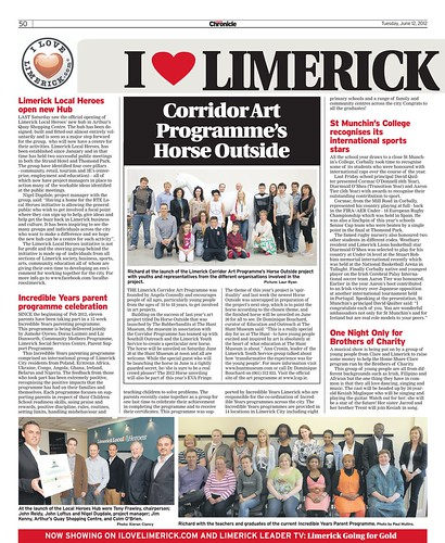 I Love Limerick Chronicle Column 12 June 2012 Page 1