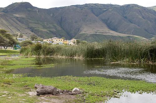 ecuador laguna provincia paesaggi ibarra imbabura yahuarcocha