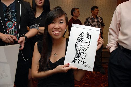 Caricature live sketching for The Bank of East Asia Staff Annual D&D - 11