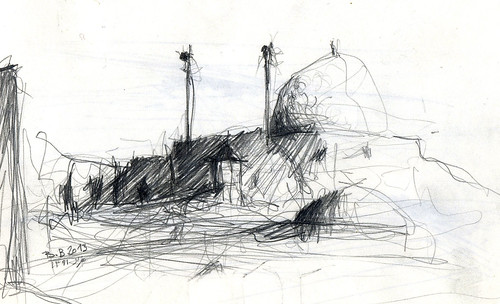 On the roof of the city (8) by Behzad Bagheri Sketches