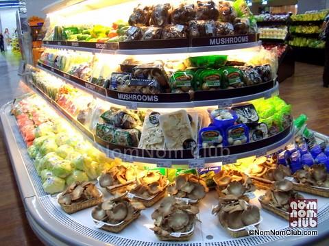 Mushroom Variety Shelf in SM Supermarket Aura
