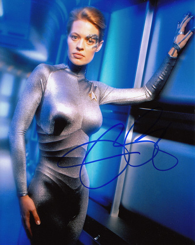 Signed photograph of Jeri Ryan.