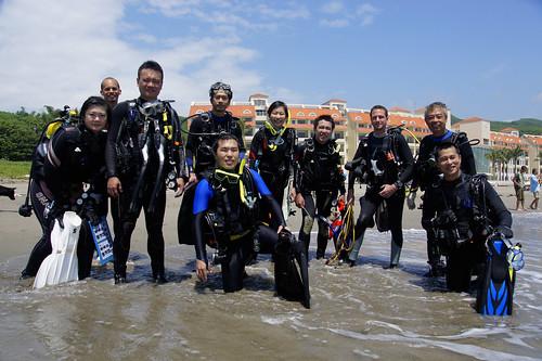 2012杉原珊瑚體檢完成 上岸合照 鄭百騰拍攝