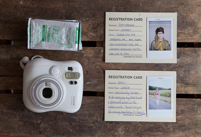 unique wedding guestbook polaroids
