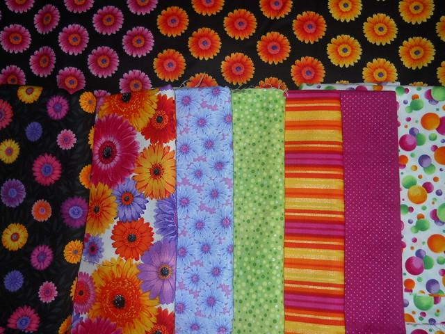 gerbera daisy quilt fabric II
