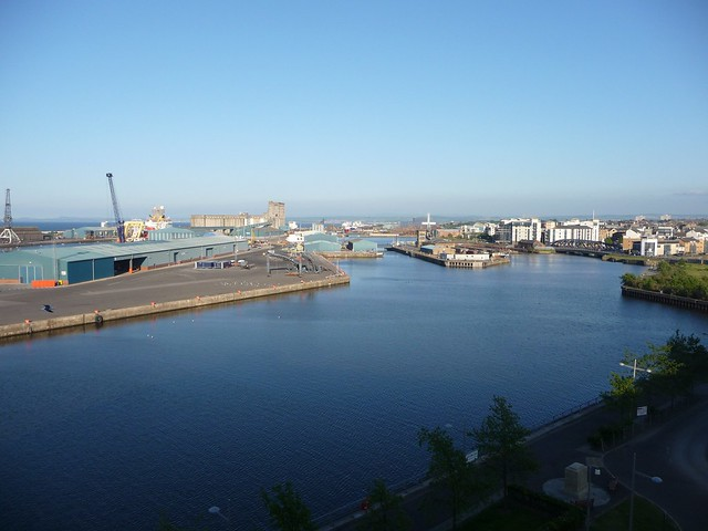 view of Leith from Ocean Terminal, June 2013