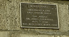 Photo of James Thornhill brown plaque