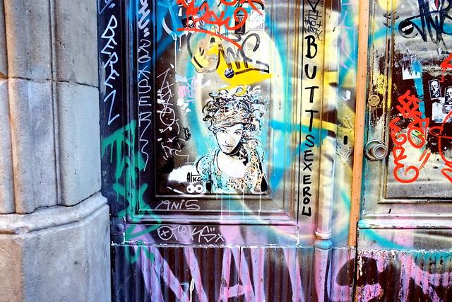 street painting   alice   barcelona 2013