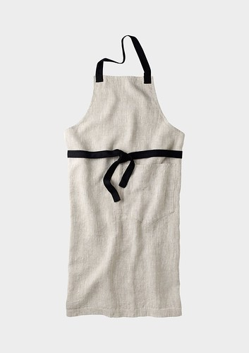 Contrast Cotton Apron