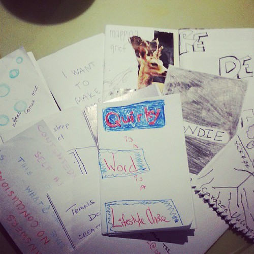 Some of the mini #zines made at #amc2013 #wemakezines our session w MOONROOT