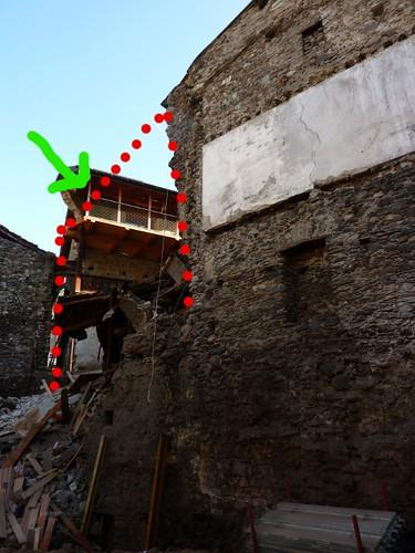 muro crollato casa Lovero