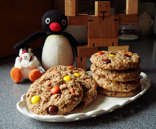 Reese's Pieces Oatmeal Cookies