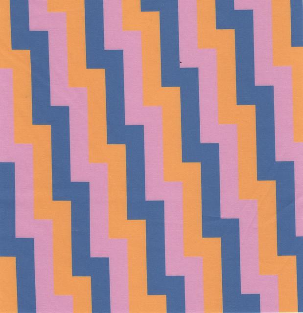 steps - blue, pink, orange