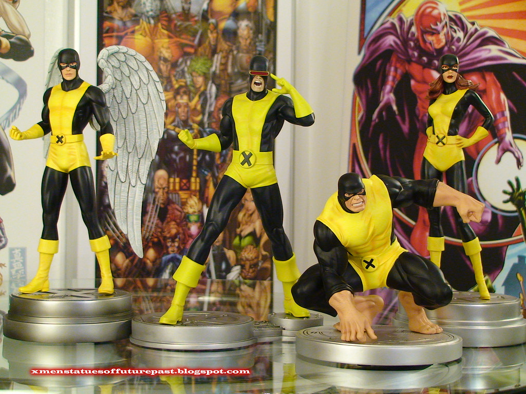 Bowen Designs Original X-men Team Statue Set - Jean, Scott, Warren, Hank