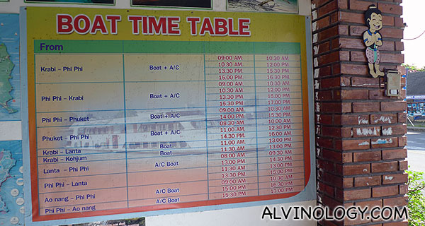 Boat timing - we had to take a bus and barge transfer instead of a boat due to the monsoon season