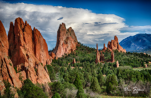 blue trees red summer sky mountains beautiful clouds zeiss colorado rocks spires sony gardenofthegods springs mygearandme mygearandmepremium slta99v