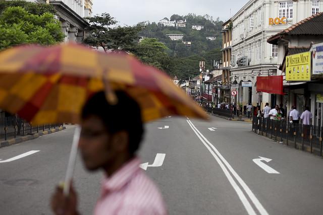 Sun and rain in Kandy