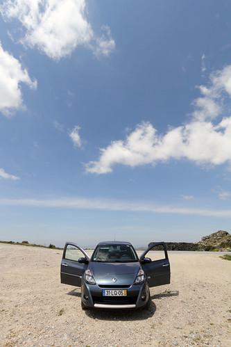2012_0530_133852 Montemuro, Portugal - Renault Clio in the summit car park