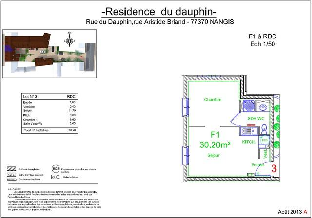Résidence du Dauphin - Plan de vente - Lot n°3bis