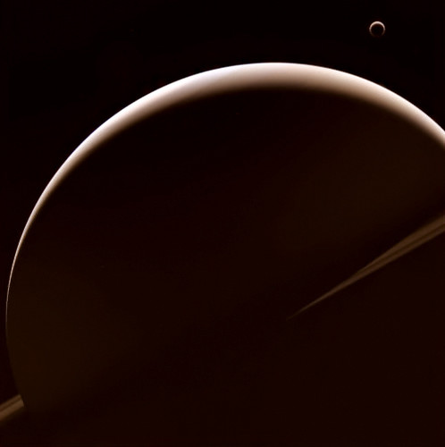 Saturn and Titan - W00083747-48-39