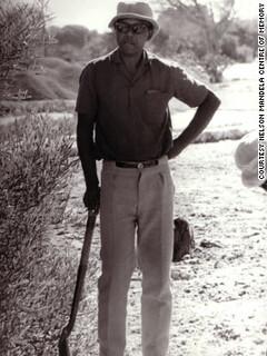 Nelson Mandela on Robben Island