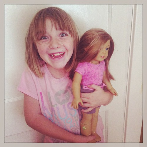 Merry is so excited by this American Girl doll that one of my Troubadour sisters sent for her birthday.  Totally blown away! #merrysbday #soblessed #troubadoursocialclub #muw