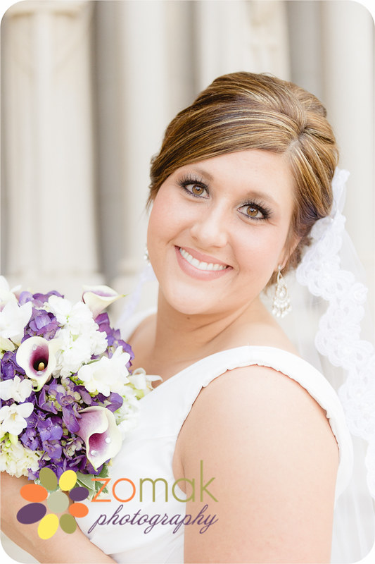 Beautiful bridal portrait at st helena cathedral
