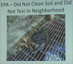 EPA -- Did Not Clean Soil and Did Not Test in Neighborhood
