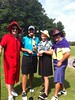 Cross-dressing at Rotary Club Golf Tourney: Ken Strickland, Jonathan Howes, Adam Wilson, Tripp