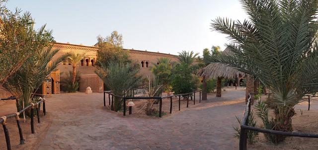 旅館的中庭