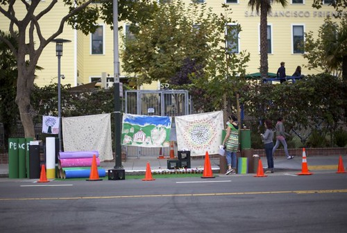 Parking Day by 6th graders at San Francisco Friends School