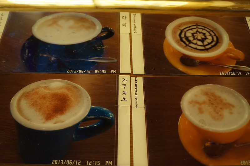 Cappucino and latte served at Pyongyang Hotel Cafe
