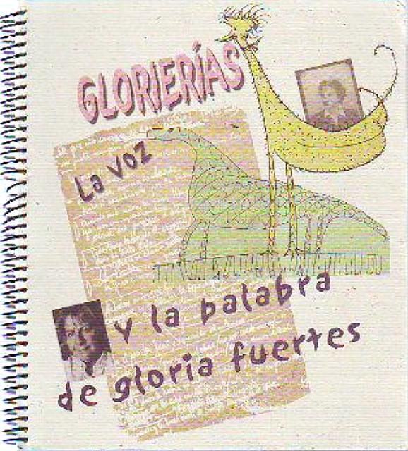 Cubierta de Glorierías (La voz y la palabra de Gloria Fuertes)