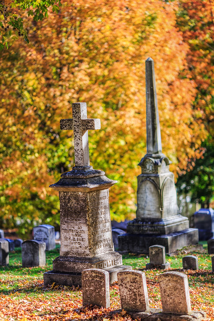Bennington Cemetery in Fall